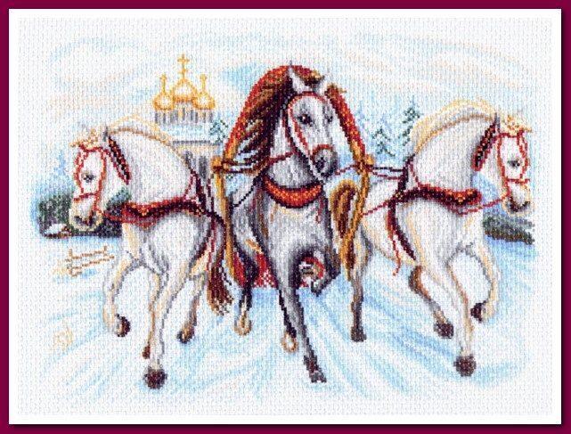1539) схема на канве, вышивка.