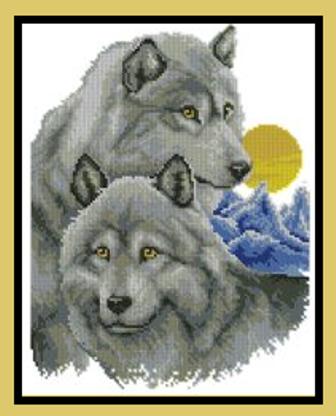 Бисер схема волки лунной ночью