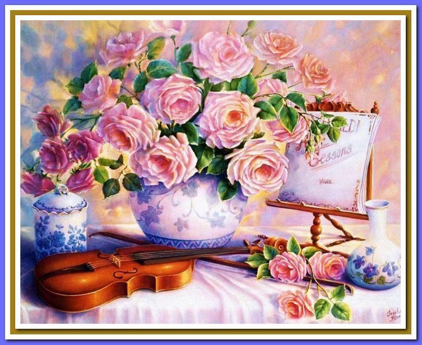 """""""Скрипка и розы"""" (арт."""