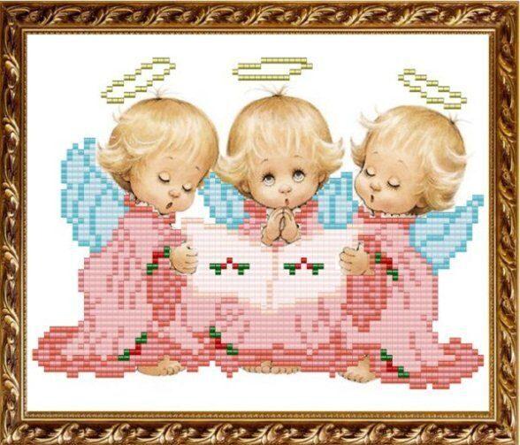 """Три ангелочка"" (арт. vka5014)"